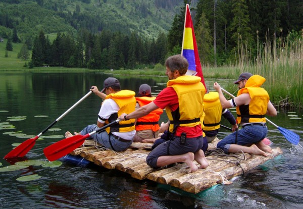 Building a Raft on a Mountain Lake